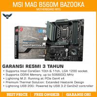 Motherboard MSI MAG B560M Bazooka (Intel LGA 1200, DDR4, B560, mATX)