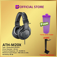 Audio-Technica ATH-M20X M20 X Professional Monitoring Headphones - M20x Only
