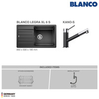 BLANCO Legra XL 6S Silgranit Kitchen Sink - Paket Promo 3