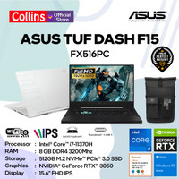 ASUS TUF DASH F15 FX516PC I7-11370H 8GB 512G RTX3050 4GB 144Hz W10 OHS