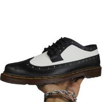 Sepatu Formal Casual wingtip Pria Black White arv footwear