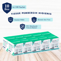 Cleanzer Tisu Basah Disinfektan Anti Bakteri/Virus [10 Box]