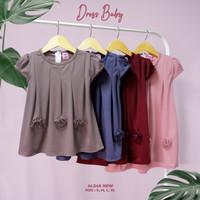 Baju Dress Polos Bayi Baby Perempuan Usia 8 Bulan Sampai 2.5 Tahun COD