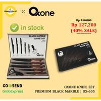 Oxone OX605 Pisau Dapur Black Marble Knife Set