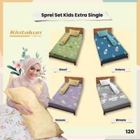 Sprei 120 Extra Single Kids Kintakun Dluxe Kirana Microfiber 20 cm
