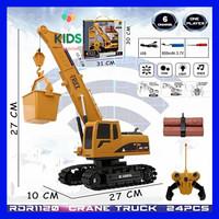Mainan mobil truk remote control / rc crane truck charger