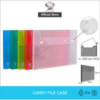Map Plastik Kancing / Eagle Carry Case- 2cm E 309-2 + Bubble Wrap