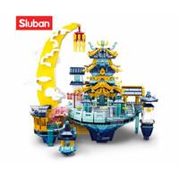Sluban Bricks Kuil Istana Kerajaan The Moon Palace 2121 pcs M38 B0937