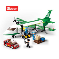 Sluban Bricks Pesawat Terbang Kargo Air Freighter Plane M38 B0371