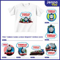 Thomas And Friends - Kaos / Baju Anak Gratis cetak nama custom raglan - 0, Lengan Pendek