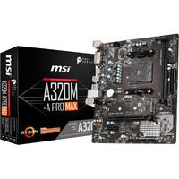 MSI A320M-A PRO MAX (AMD 320,AM4,DDR4) Support Ryzen 3th Generation