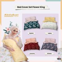 Bed Cover Set 180 King Flower Kintakun Dluxe Kirana Microfiber 39 cm