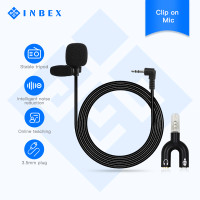INBEX Mini Mikropon Clipon with Mic Splitter 3.5mm/Clip On Microphone