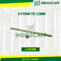 Form Tie 12mm Bekisting Termasuk Hex Nut L=250