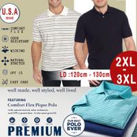 XXL-7XL |Original No KW | USA Brand| Kaos Polo Shirt | Big size-Jumbo