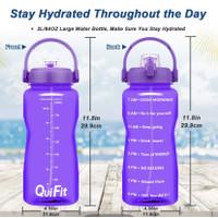 Original QuiFit 2L Bottle Tritan Botol Air Minum Dgn Kata² Motifasi