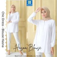 Blus Baju Atasan Wanita Cewek Muslim Muslimah Modern Kerja Kuliah Hasn