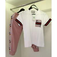 Gc Good Mickey Casual Set Pink / One Set Wanita / Setelan Baju Wanita