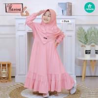 Baju Muslim Anak Perempuan Gamis Anak 6 tahun HANINA 5-6 th - pink