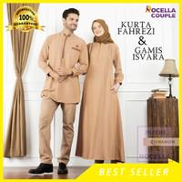 Couple Rocella Isvara X Rocella Fahrezi - Gamis Couple Syari Set - Navy, S-M