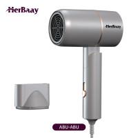 Herbaay Foldable Hair Dryer Daya Rendah dengan Negative ion bisu - Abu-abu