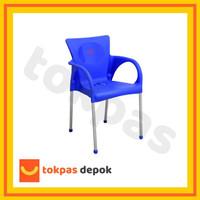Kursi Plastik Bangku Senderan Fuga Chair Shinpo 291 - Biru