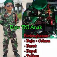 Promo SERAGAM TENTARA ABRI TNI ANAK SD TK (LAKI WANITA) BAJU KARNAVAL