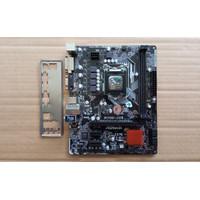 ASRock H110M-DVS R2.0 LGA 1151 B150 H110 Z270 DDR4 Support Gen 6 dan 7