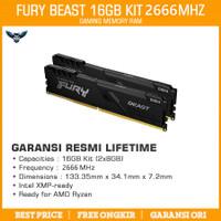 RAM KINGSTON HYPERX FURY DDR4 16GB KIT 2666 2x8GB