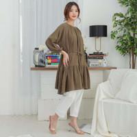 Akira Dress Beatrice Clothing - Dress Wanita - Army