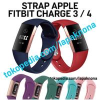 APPLE Strap Fitbit Charge 4 / 3 Band Silikon Tali Jam Tangan Watch
