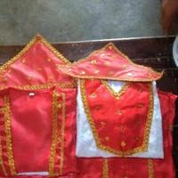 Pakaian adat maluku // baju Maluku anak Lk - Pr size S - M - Merah, LAKI S