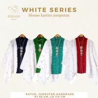 Jumputan White Series Blouse Batik Katun