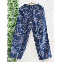 Celana Kulot Wanita Kekinian Motif Bunga Padi/ Celana kekinian Bali /