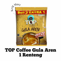 Top Coffee Gula Aren 1 renteng isi 15 kopi bubuk instan hits