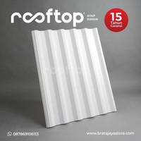 Atap Rooftop I-Series uPVC tebal 12mm kualitas Terbaik - Putih Biru - 0.5, Putih