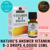 Natures Answer Vitamin D3 Vit D3 Drops 4000 IU 15 ml