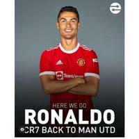 Baju Jersey Bola Nama Ronaldo Manchester United MU Home 2021 2022 GO