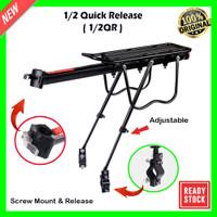 Boncengan Belakang Sepeda Luggage Carrier Rear Rack Quick Release - 1/2QR