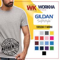 Kaos Gildan Softstyle Tanpa Jahitan Samping - READY STOCK