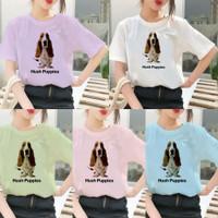 Atasan Tshirt Baju Kaos Wanita Remaja Cewek HUSH PUPPIES Murah Terbaru