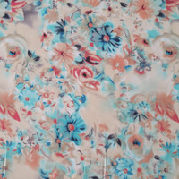 kain chiffon/sifon fine motif bunga lebar 1.15 m - VAR A