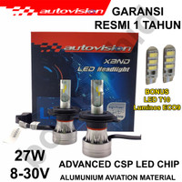 LAMPU LED H4 Hi/Lo AUTOVISION XAND Headlamp 6500K White Lampu Utama