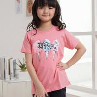 baju kaos anak perempuan 2 4 6 8 10 12 tahun atasan pakaian perempuan - tee ice cream, 2T