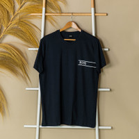 Kaos HUGO BOSS Text Stripe Pocket Navy Tshirt 100% ORIGINAL