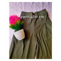 Promo Celana Kulot Wanita 7/8 Korea Knit Bahan premium & tebal - Hijau Tua, All Size