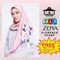 Zoya Kerudung Hijab Jilbab Segi Empat Segiempat Motif Florence Scarf