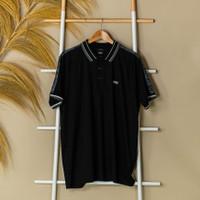 Kaos HUGO BOSS Text Shoulder Black Polo 100% ORIGINAL