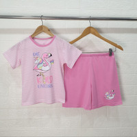 UNICORN Angsa Pink Setelan Baju Tidur anak perempuan PENDEK size 6-18 - 10
