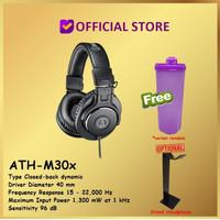 Audio-Technica ATH-M30x Professional Studio Monitor Headphone ATH M30x - Hitam, Free Thumbler
